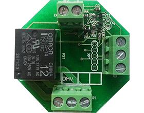 """DHV10H модуль: электромагнитное реле и контроль """"сухого контакта"""""""