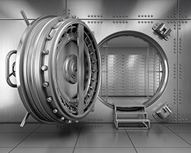 Банк, охранная сигнализация